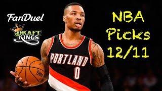 Download NBA (Fanduel + DraftKings) Picks 12/11 Video