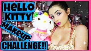 Download FULL FACE USING ONLY HELLO KITTY MAKEUP Challenge   PiinkSparkles Video
