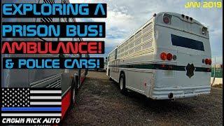 Download Exploring A Prison Bus, Ambulance & Police Cars! Crown Rick Auto Video