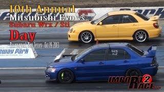 Download 10th annual Mitsubishi EVO vs Subaru Wrx/Sti day Video
