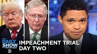 Download Trump's Senate Impeachment Trial: Day Two   The Daily Show Video
