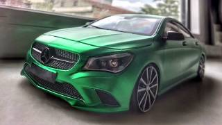 Download Mercedes Benz CLA200 GMG GARAGE FOLYOSUYLA KAPLAMA , Mat Satin Flex Yeşil , 1/18 Diecast Model Video