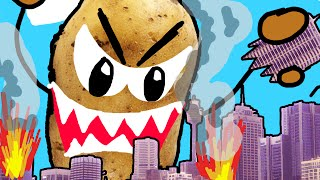 Download CITY DESTROYED BY POTATO!! | Drawing Your Comments Video
