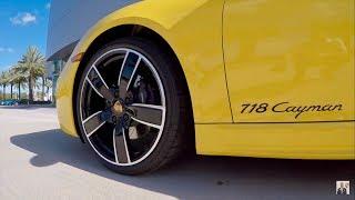 Download 2018 Racing Yellow Porsche 718 Cayman 300 hp @ Porsche West Broward Video