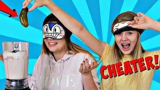 Download VANESSA CHEATS AGAIN! .... Blindfold Milkshake Challenge   Sis vs Sis Video