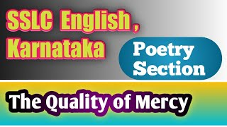Download The Quality of Mercy : Recitation of the Poem ( For Pdf notes - WhatsApp -9900184822) Video