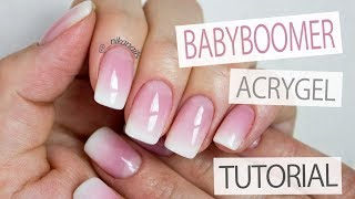 Download French Ombre With AcryGel Tutorial - How to: Easy & Perfect Baby Boomer Nails Video