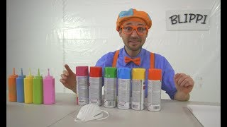 Download Blippi Painting Giveaway | Learn Colors With Paint Video