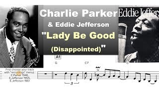 Download Charlie Parker & Eddie Jefferson - ″Lady Be Good″ Virtual Transcription by Gilles Rea Video