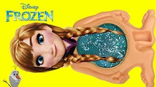 Download Disneys FROZEN 2 Princess Anna Slime Belly Full of Toys Surprises Video