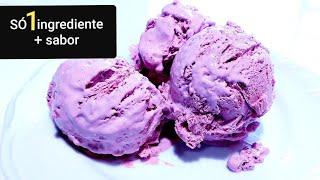 Download SORVETE DE UM (1) INGREDIENTE + O SABOR RENDE MUITO!!Sobremesa gelada 💜 Video