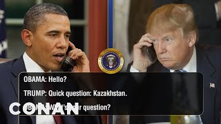 Download EXCLUSIVE Leaked Audio Of Obama & Trump's Phone Calls - CONAN on TBS Video