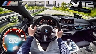Download BMW M760Li 6.6 V12 BiTurbo AUTOBAHN POV Acceleration & TOP SPEED by AutoTopNL Video