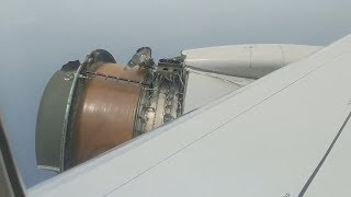 Download Plane Engine Falls Apart Over The Ocean Video