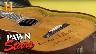 Download Pawn Stars: Guitar Autographed by The Beatles | History Video