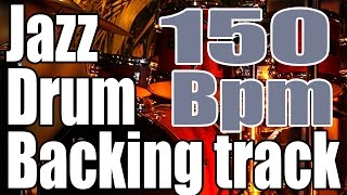 Download Jazz swing bass backing track | Only jazz drums | 150 Bpm Video