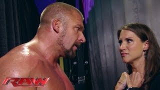 Download Stephanie begs Triple H not to hurt Mr. McMahon: Raw, June 10, 2013 Video