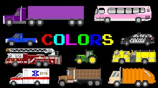 Download Vehicle Colors - Featuring Street Vehicles - The Kids' Picture Show (Fun & Educational) Video