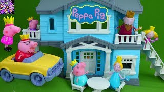 Download Princess Peppa Pig Royal Family Toys Ben & Holly's Little Kingdom Vacation Green Toys House Playset Video