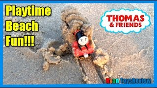 Download THOMAS AND FRIENDS Playtime at the Beach Thomas the Tank Engine James Surprise Toys Ryan ToysReview Video