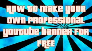 HOW TO MAKE A SICK CS-GO BANNER/CHANNEL ART (SPEED ART