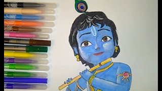 Download Coloring pages Little Krishna movie colouring for kids Video