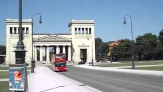 Download Munich, Germany: Königsplatz, Glyptothek and Staatliche Antikensammlung Video
