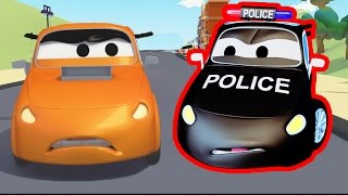 Download The Car Patrol Fire Truck and Police Car : The Race in Car City | Cars & Trucks cartoon for children Video
