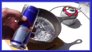Download RED BULL vs Molten Lead - ART Project - Super Leidenfrost Effect Video