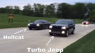 Download Hellcat vs Turbo Jeep SRT8 Video