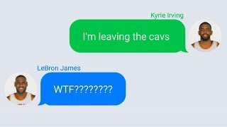 Download LeBron James Texting Kyrie Irving After Trade Request Video