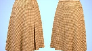 Download A-Line Skirt Sewing with Yoke and Box Pleat - Introduction (FREE SAMPLE) Video