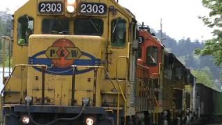 Download HD Rare 5 engine freight train PW 2303 (4-29-09) Video