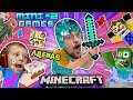 Download MINECRAFT MINI-GAMES #2 Batman vs FGTEEV Chase ARENA BATTLE & Hello Neighbor Carnival Challenge Map Video