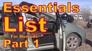 Download Essentials List for Living in a Vehicle Video