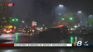 Download Wildfires Burning in Smoky Mountains Video