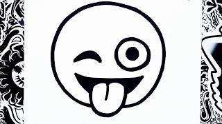 Download como dibujar un emoji sacando la lengua | how to draw emoji Video