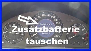Download Mercedes W211 Zusatzbatterie / Stützbatterie tauschen Video