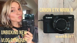 Download UNBOXING NEW VLOGGING CAMERA! CANON G7X MARK II + TEST FOOTAGE & REVIEW Video