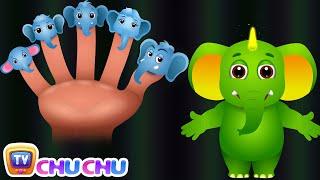 Download Finger Family Elephant | ChuChu TV Animal Finger Family Songs & Nursery Rhymes For Children Video