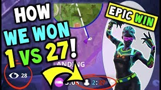 Download How We Won 1 VS 27 On Fortnite 50 VS 50! The Most EPIC WIN / CLUTCH in Fortnite Battle Royale! Video
