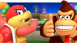 Download Unlocking New Characters In Super Mario Party   Open World   DK Diddy Kong Dry Bones & Pom Pom Video