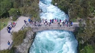 Download Huka Falls New Zealand by drone Video