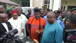 Download Rochas invades Senators house with over 200 policemen as materials for APC congress disappears Video
