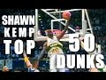 Download Shawn Kemp Top 50 BEST Dunks In The NBA! Video