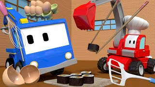 Download The RESTAURANT - Tiny Trucks for Kids with Street Vehicles Bulldozer, Excavator & Crane Video