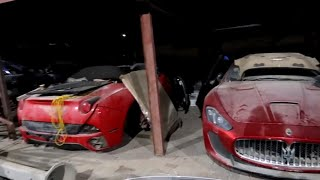 Download ABANDONED CARS IN DUBAI-TRILLIONAIRE'S EDITON(FERRARI,R8,FISKER,G WAGONS,GTR'S) Video