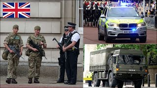 Download British Army and Armed Police activity in London: Op Temperer Video