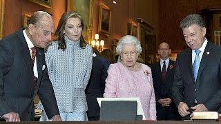 Download Juan Manuel Santos recibido con honores en Londres - world Video