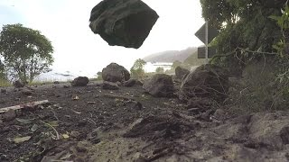 Download Landslide and rockfall during Kaikoura Earthquake aftershock Video
